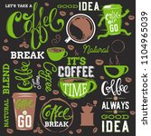 coffee design elements isolated ... | Shutterstock .eps vector #1104965039
