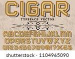 font alphabet script typeface... | Shutterstock .eps vector #1104965090