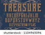classic vintage decorative font ... | Shutterstock .eps vector #1104965096