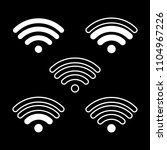 wifi icons with whie stroke on... | Shutterstock .eps vector #1104967226