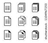 vector file icons single ... | Shutterstock .eps vector #1104967253