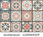 vector tiles patterns. seamless ... | Shutterstock .eps vector #1104969329