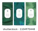 branding packaging tropical... | Shutterstock .eps vector #1104970448