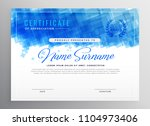 abstract blue diploma... | Shutterstock .eps vector #1104973406