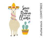 cute llama  alpaca cartoon...   Shutterstock .eps vector #1104973823