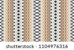 ikat seamless pattern. vector... | Shutterstock .eps vector #1104976316