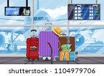 international airport concept.... | Shutterstock .eps vector #1104979706