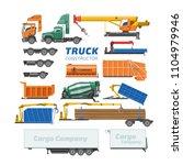 truck constructor vector... | Shutterstock .eps vector #1104979946