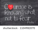 courage is knowing what not to... | Shutterstock . vector #1104982070