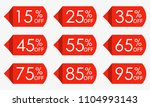 sale price tag set. red... | Shutterstock .eps vector #1104993143
