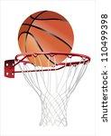 basketball hoop and ball ... | Shutterstock .eps vector #110499398