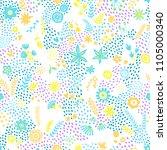 seamless summer print. abstract ... | Shutterstock .eps vector #1105000340
