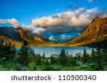 Sunrise At St. Mary Lake From...