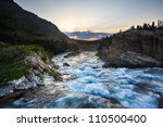 River Flow At Sunset Near Swif...