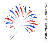 vector fireworks for... | Shutterstock .eps vector #1105006760