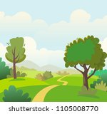 rural landscape  nature  summer ... | Shutterstock .eps vector #1105008770