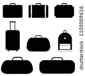 A Set Of Silhouettes Of Travel...