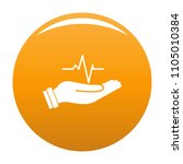 heartbeat icon. simple... | Shutterstock .eps vector #1105010384