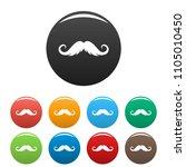 fluffy mustache icon. simple... | Shutterstock .eps vector #1105010450