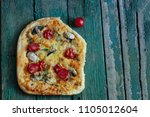 a piece of hot rural simple... | Shutterstock . vector #1105012604