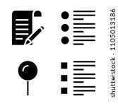 basic icon set. test  list  gps ...
