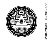 new world order symbol with all ... | Shutterstock .eps vector #1105013270