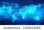 global business network concept ... | Shutterstock . vector #1105013360