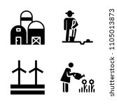 farm icon set. innovation ... | Shutterstock .eps vector #1105013873
