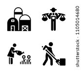 farm icon set. plant  farmland  ... | Shutterstock .eps vector #1105014680