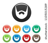 neat beard icon. simple... | Shutterstock .eps vector #1105015289
