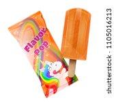 flavor pop ice cream with... | Shutterstock .eps vector #1105016213