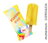 flavor pop ice cream with... | Shutterstock .eps vector #1105016216