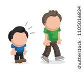 vector hand drawn cartoon... | Shutterstock .eps vector #1105016834