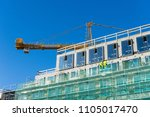 construction site with engineer ... | Shutterstock . vector #1105017470