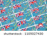 flags  of tuvalu  behind a... | Shutterstock . vector #1105027430