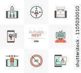 modern flat icons set of mobile ... | Shutterstock .eps vector #1105030010