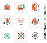 modern flat icons set of... | Shutterstock .eps vector #1105030013