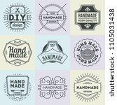logotypes diy do it yourself... | Shutterstock .eps vector #1105031438
