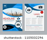 modern business two sided flyer ... | Shutterstock .eps vector #1105032296