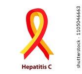 red yellow ribbon. virus...   Shutterstock .eps vector #1105046663