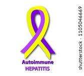 violet yellow ribbon....   Shutterstock .eps vector #1105046669