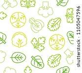 seamless outline vegetable... | Shutterstock .eps vector #1105047596