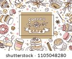 beautiful hand drawn vector... | Shutterstock .eps vector #1105048280