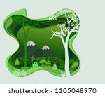 eco friendly save the... | Shutterstock .eps vector #1105048970