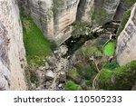 High Cliffs Of El Tajo River...