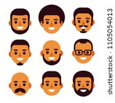 cartoon black man avatar icon... | Shutterstock .eps vector #1105054013