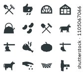 black vector icon set field... | Shutterstock .eps vector #1105067066