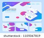 header for website.... | Shutterstock .eps vector #1105067819
