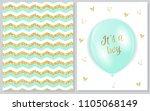 set of baby shower invitation... | Shutterstock .eps vector #1105068149