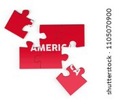 realistic red six pieces of...   Shutterstock . vector #1105070900